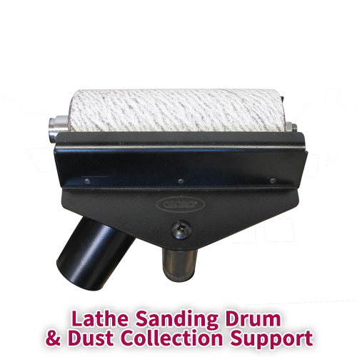 Lathe Sanding Drum & Dust Collection Support